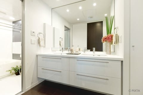 洗面所 洗面台 鏡
