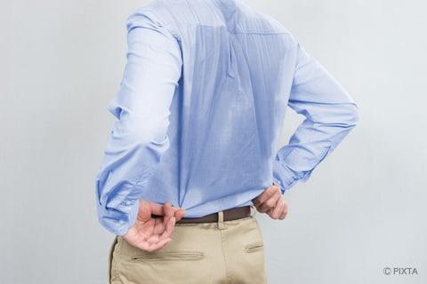 シャツの汗ジミ
