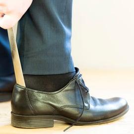 革靴のかかと