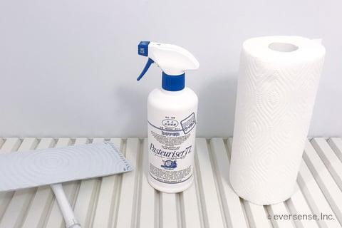 お風呂の天井掃除に使う道具