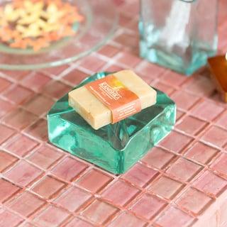 ガラスの アジアン チャンクソープディッシュ