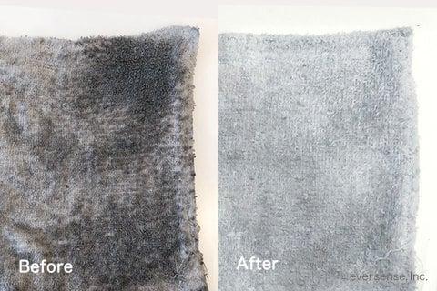 ウタマロ石鹸で雑巾洗濯(前後)