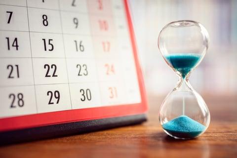 時間 カレンダー 砂時計