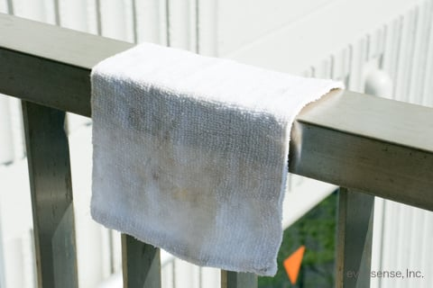 煮洗い後の雑巾