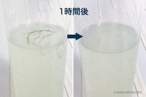 カビダッシュで髪の毛を溶かす