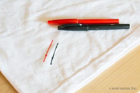 水性ペンの汚れ