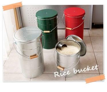 トタン製米びつ