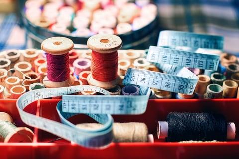 裁縫セット 箱 糸 メジャー