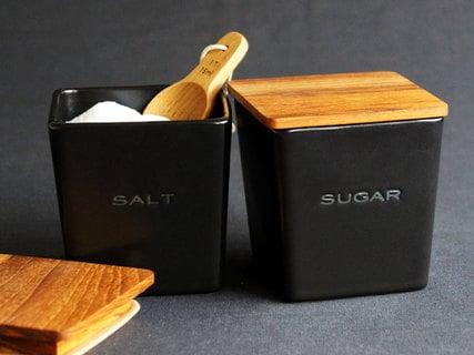 SHIKIKA 砂糖 塩キャニスター