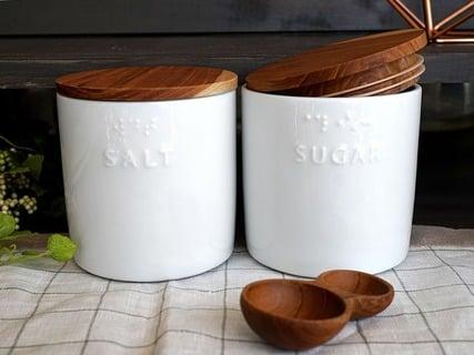 ソルト シュガー 陶器 キャニスター