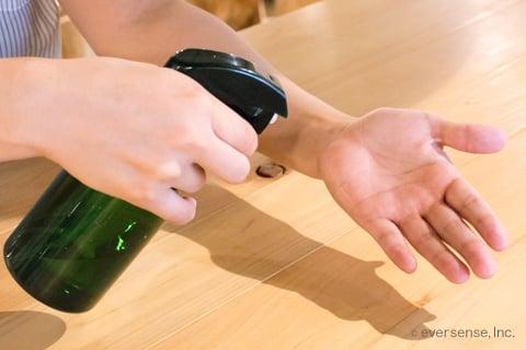 手の消毒にエタノール