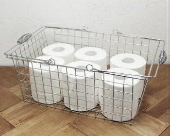 トイレットペーパー 収納 ワイヤーバスケット