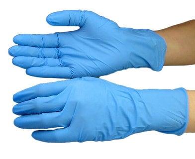 ニトリル極薄手袋 粉なしタイプ