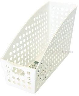 収納ボックス ケース ファイルボックス 100均 イノマタ化学 ストックスタンドA4  ホワイト   4905596457565