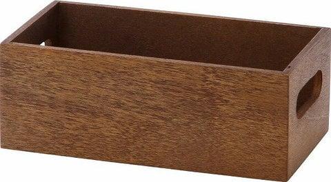 100均一 収納ケース 収納ボックス 木製ケース 木製ボックス 小物入れ 小物収納 雑貨 木製 ブラウン【まとめ買い対象商品_z】木製ボックス 2111