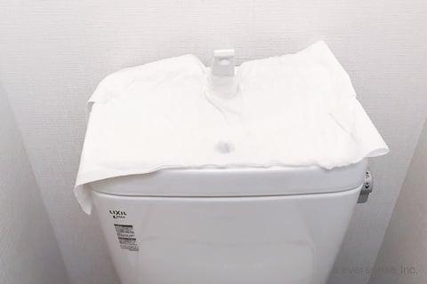 トイレの手洗い器をクエン酸パック