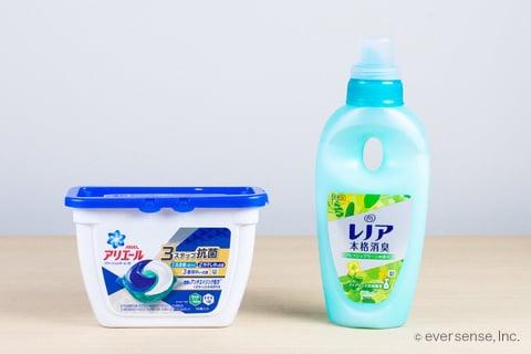 ジェルボール洗剤と柔軟剤