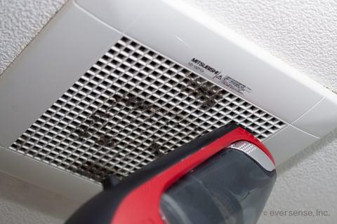 お風呂の換気扇掃除