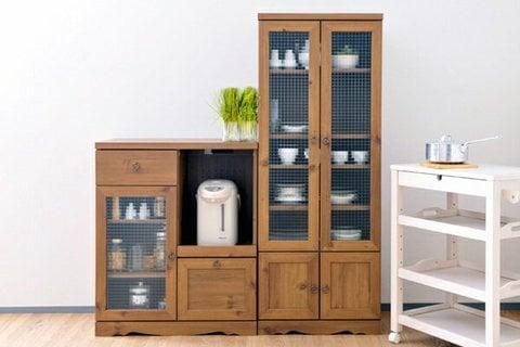 マグカップ 収納 食器棚 アンティーク調家具 ビストロ カップボード
