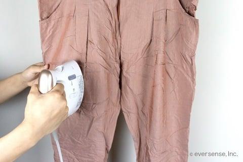 画像の説明化繊パンツ スチームアイロン