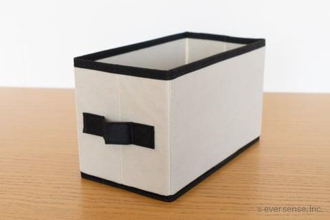 セリア ボックス 布 収納 ジュートストッカー モノトーンカラーボックスS