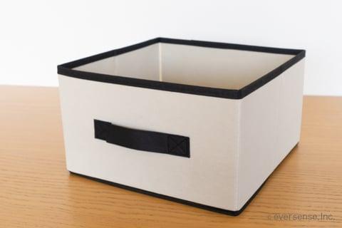 セリア ボックス 布 収納 ジュートストッカー モノトーンカラーボックスL