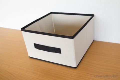 セリア ボックス 布 収納 ジュートストッカー モノトーンカラーボックス