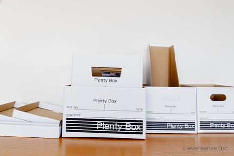 セリア 収納 100均 収納 紙 ダンボール プレンティボックス Plenty Box ペーパーボックス