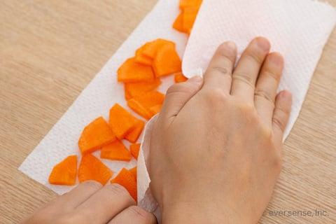 人参 にんじん いちょう切り 切り方 薄め 冷凍保存 保存方法