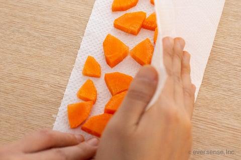 人参 にんじん いちょう切り 切り方 厚め 冷凍保存 保存方法