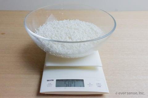 ご飯の炊き方 米の研ぎ方 3合