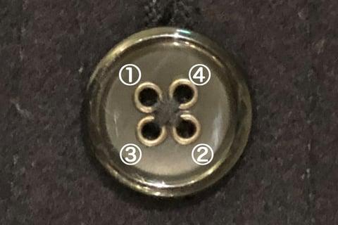 +型のボタン付け