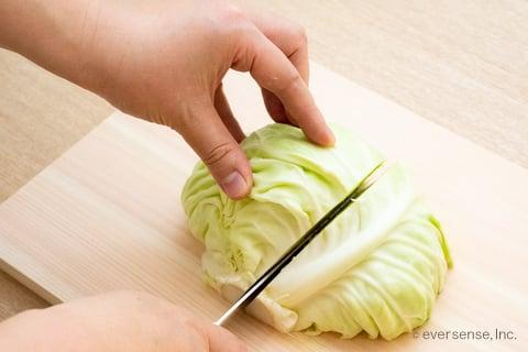 キャベツ 切り方 くし切り くし形切り