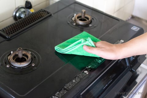 コンロの拭き掃除