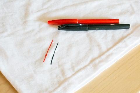 水性ペンの落とし方