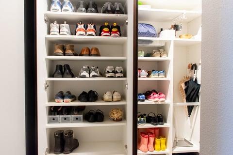 水谷さん 靴箱の収納