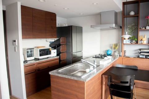 水谷さん キッチン風景