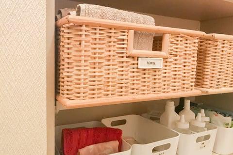 洗面所 タオル 収納 smilehome_yukiさん