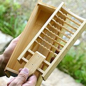 日本製の竹製 鬼おろしと鬼おろし竹皿のセット