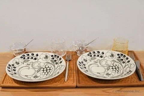 河内さん 朝食の食器セット
