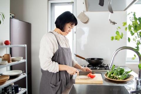 マキさん 調理の写真