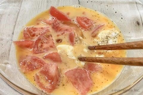 じゃがいも レシピ じゃがいもとトマトのオープンオムレツ