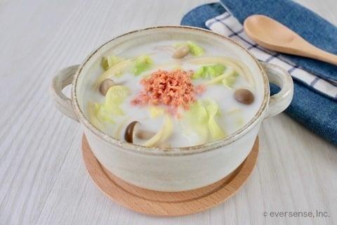 キャベツ スープ キャベツと鮭フレークのスープの作り方 パスタ入り