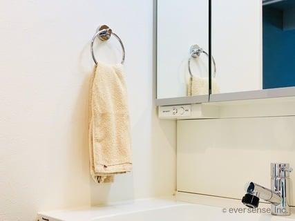 ちょい家事 洗面所のタオルで掃除 タオル