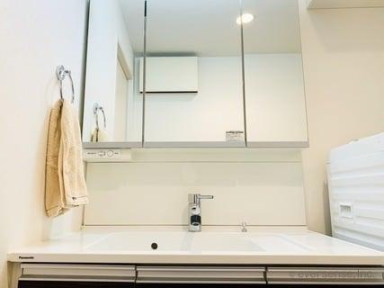 ちょい家事 洗面所のタオルで掃除 全景