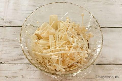 豆腐 えのき レシピ 豆腐のえのきがけ えのきをレンチンする