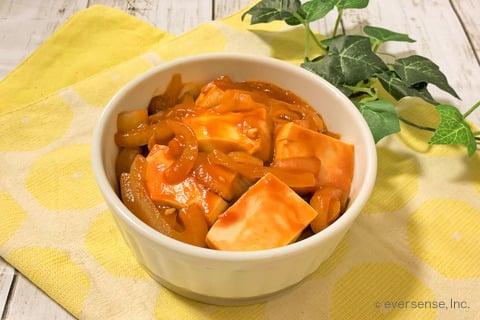 豆腐 玉ねぎ レシピ 豆腐と玉ねぎのケチャップ煮