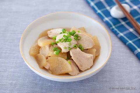 鶏肉 むね肉 大根 時短 レシピ 鶏むね大根