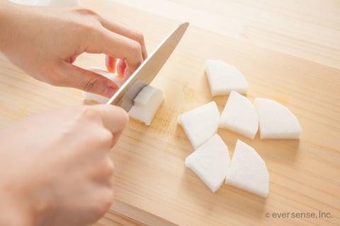 むね肉 大根 時短 レシピ いちょう切りする