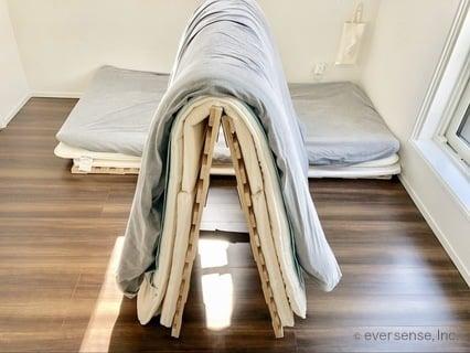 みんなのアイデア 満月さん すのこベッドで布団干し
